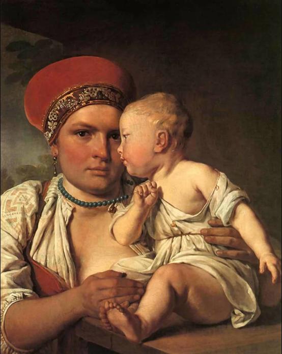 Алексей Венецианов «Кормилица с ребенком», 1820 год