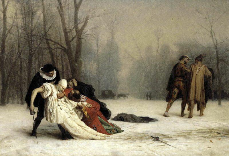 Жан-Леон Жером «Дуэль после маскарада», 1857 год