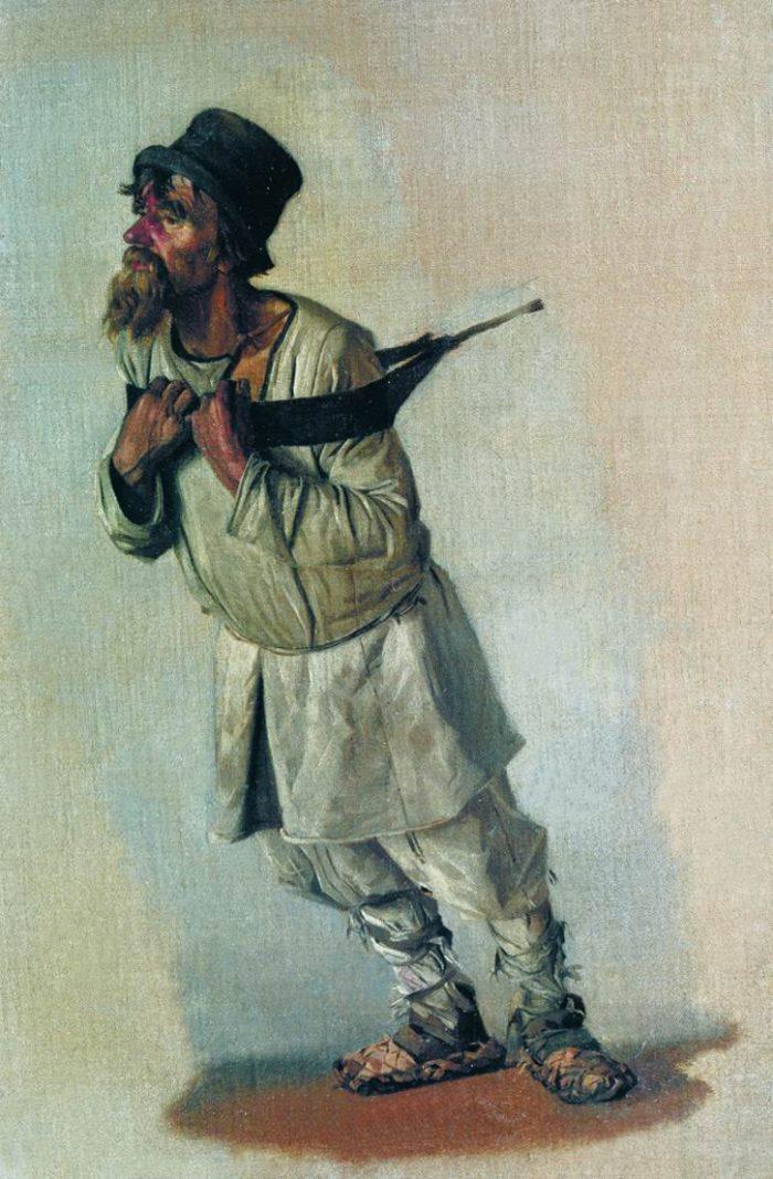Василий Верещагин, эскиз к картине «Бурлаки», 1866 год