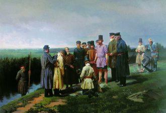 Николай Дмитриев-Оренбургский «Утопленник в деревне», 1867 год