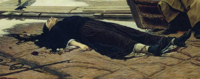 Василий Перов «Утопленница», 1867 год , фрагмент