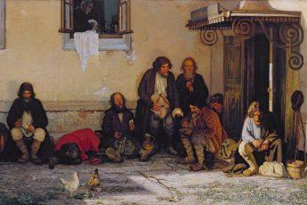 Григорий Мясоедов «Земство обедает», 1872 год