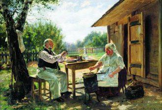 Владимир Маковский «Варят варенье», 1876 год