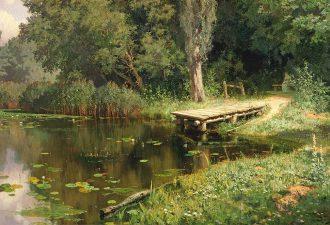 Василий Поленов «Заросший пруд», 1879 год