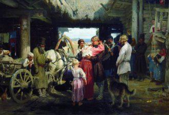 Илья Ефимович Репин «Проводы новобранца», 1879 год