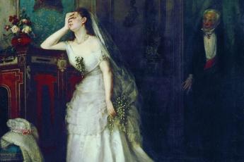 Фирс Журавлев «После свадебной церемонии» (После венчания), 1874 год