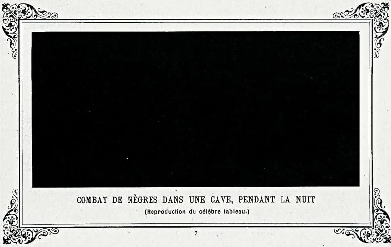 Альфонс Алле, «Битва негров в пещере, глубокой ночью», 1882 год