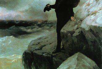 Иван Айвазовский и Илья Репин «Прощание Пушкина с Черным морем», 1887 год