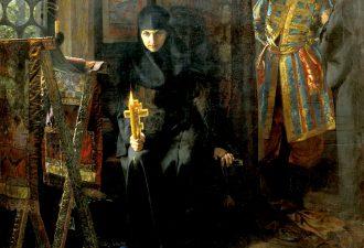 Матвеев Николай Сергеевич «Против воли постриженная» 1887 год