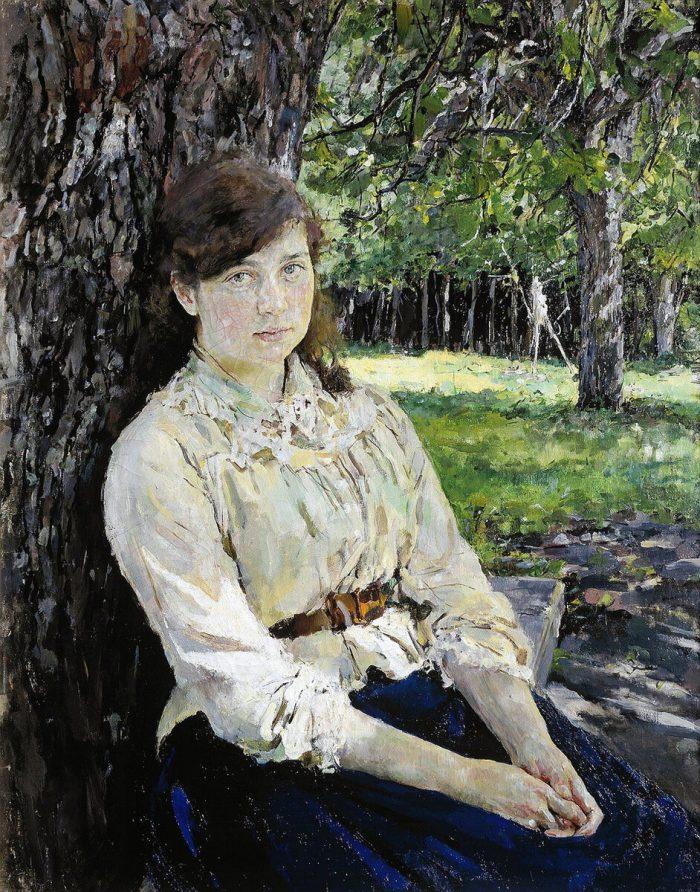 Валентин Серов «Девушка, освещённая солнцем», 1888 год