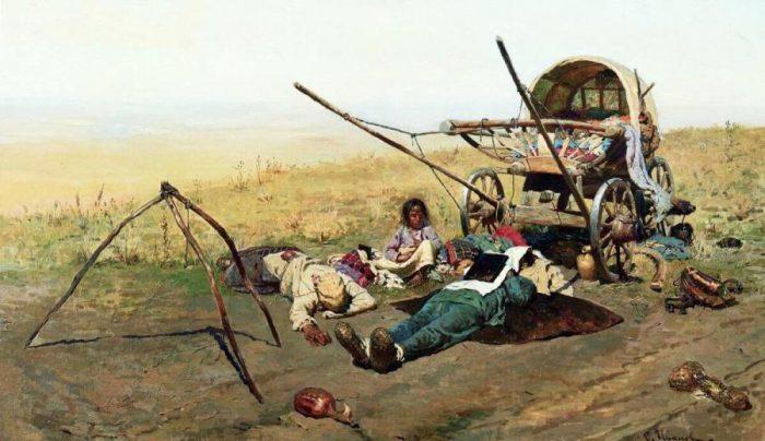 Сергей Иванов «Смерть переселенца», 1889 год