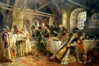 Владимир Маковский «Поцелуйный обряд», 1895 год
