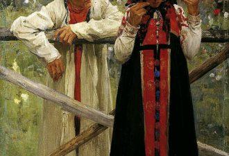 Иванов Михаил Филиппович «Ответа жду», 1900 год