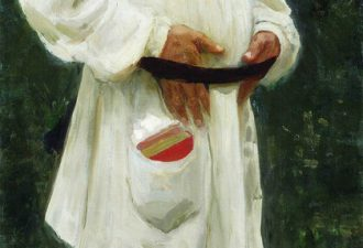Илья Репин «Лев Николаевич Толстой босой», 1901 год
