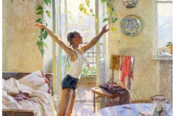 Татьяна Яблонская «Утро», 1954 год