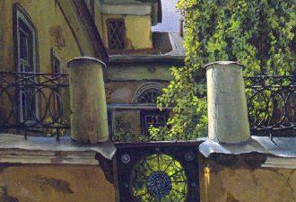 Владимир Парошин «Особняк в Мансуровском переулке», 1996 год