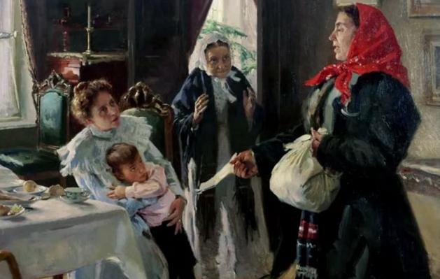 Владимир Маковский «Две матери. Мать приемная и родная»
