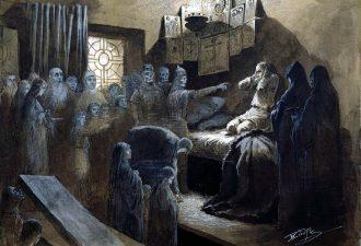 Михаил Клодт «Иван Грозный и тени его жертв», конец XIX века