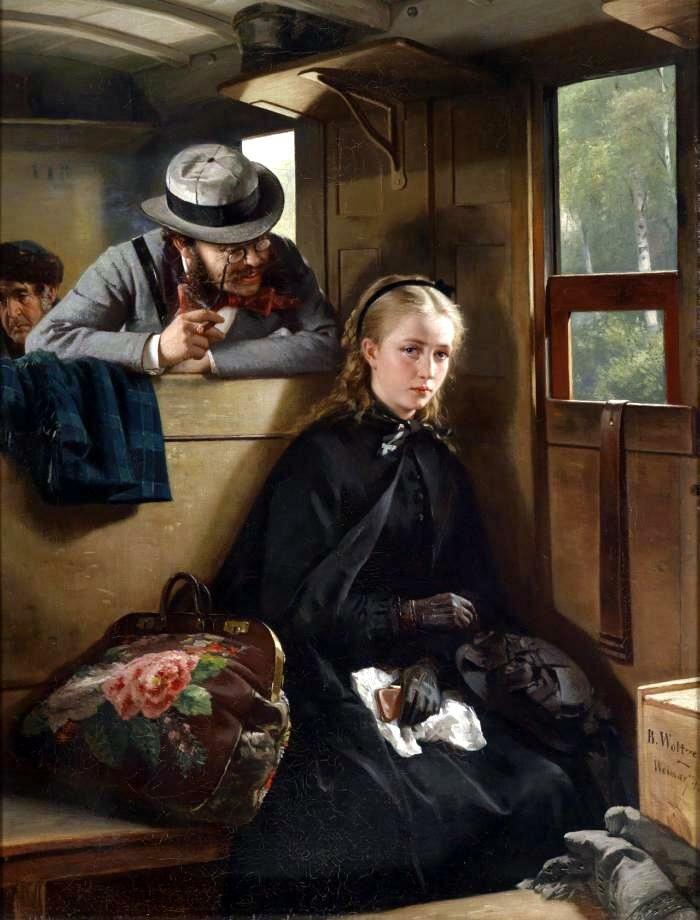 Бертольд Вольц «Раздражающий господин», 1874 год