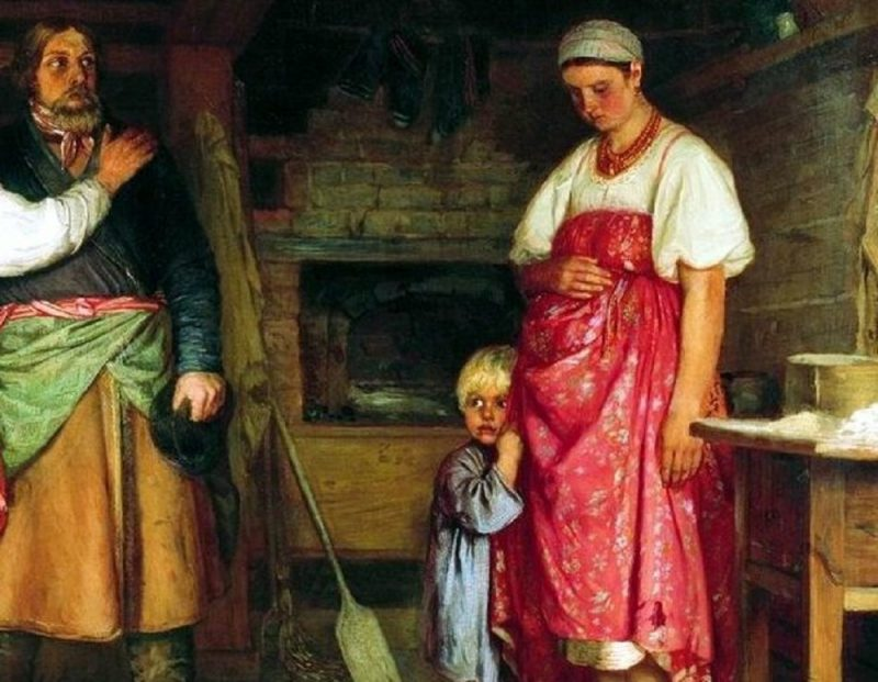 Фирс Журавлёв «Приезд извозчика на родину», фрагмент