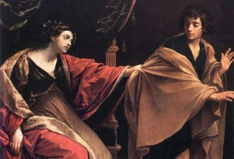 Гвидо Рени «Иосиф и жена Потифара», фрагмент