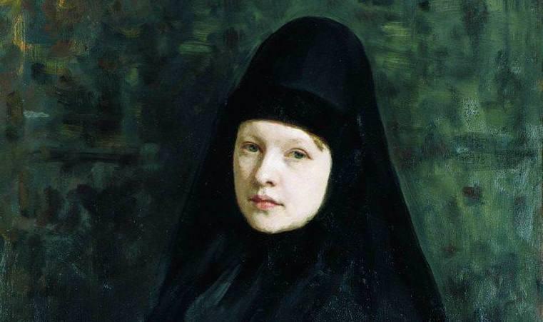 И. Е. Репин «Монахиня», фрагмент