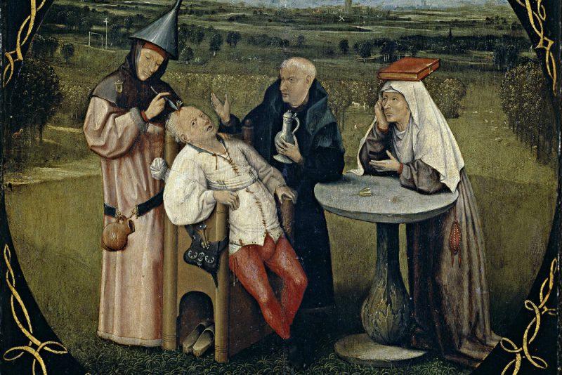 Иероним Босх «Извлечение камня глупости», 1475-1480 гг.