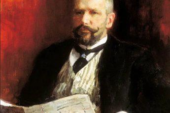 Илья Репин «Портрет премьер-министра Столыпина», фрагмент