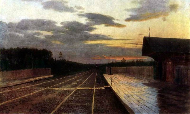 Исаак Левитан «Вечер после дождя», 1879 год