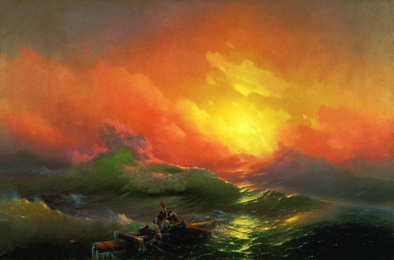Иван Айвазовский «Девятый вал», 1850 год
