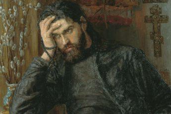 Константин Аполлонович Савицкий «Инок», фрагмент