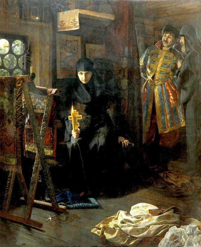 Матвеев Николай Сергеевич «Против воли постриженная», 1887 год
