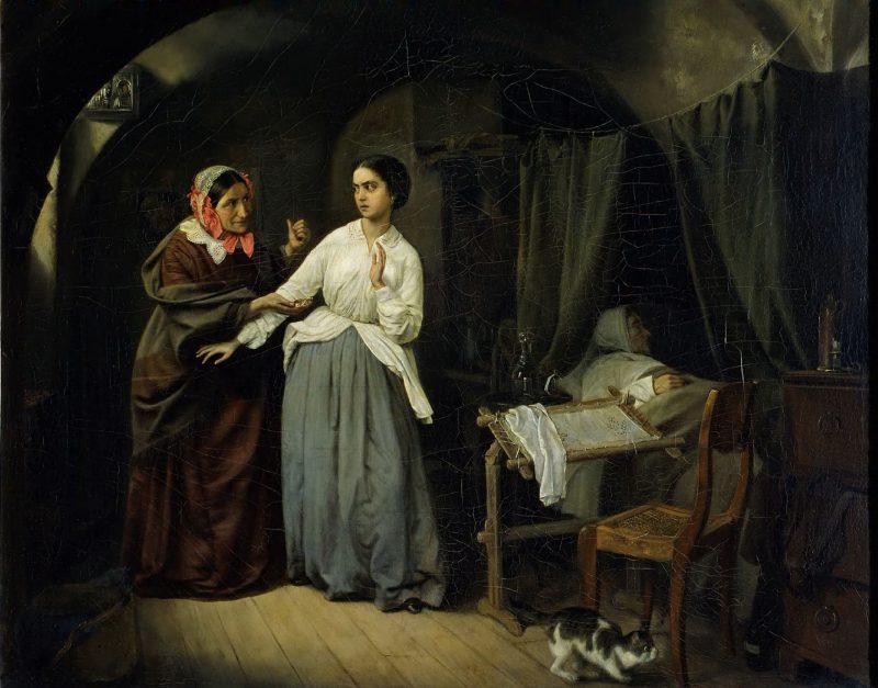Николай Густавович Шильдер «Искушение», 1857 год