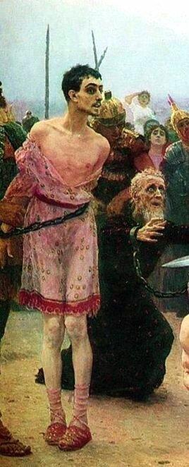 «Николай Мирликийский избавляет от смерти трёх невинно осуждённых», фрагмент