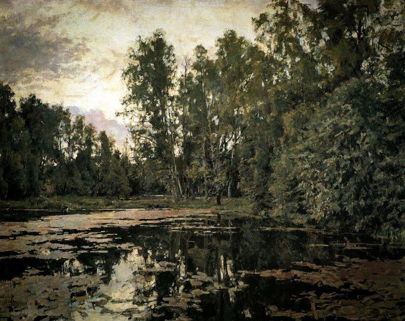Валентин Серов «Заросший пруд. Домотканово», 1888 год