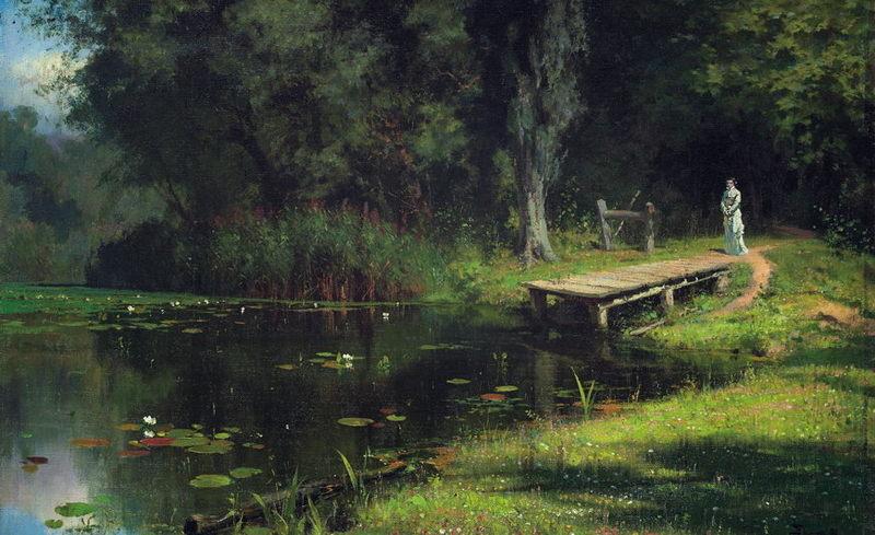 Василий Поленов «Заросший пруд», 1880 год