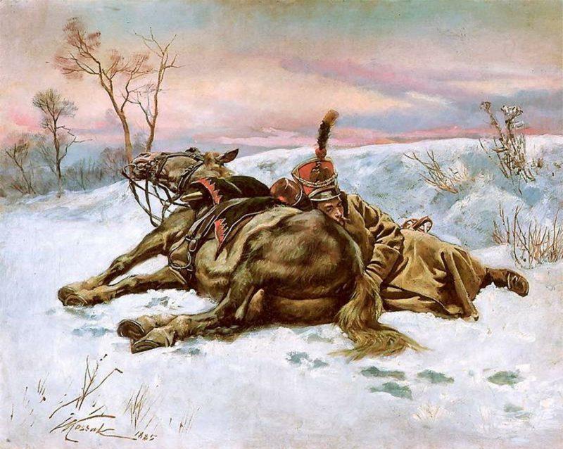 Войцех Коссак «Гусар в снегу»
