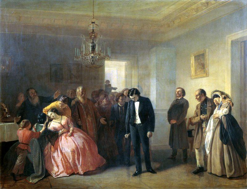 Адриан Маркович Волков «Прерванное обручение» , 1860 год