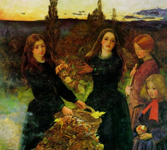 Джон Эверетт Милле «Осенние листья», фрагмент