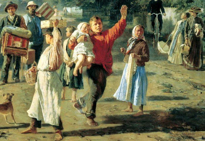 Алексей Корзухин «Петрушка идет!», фрагмент