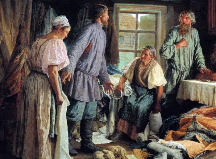 Василий Максимов «Семейный раздел», фрагмент