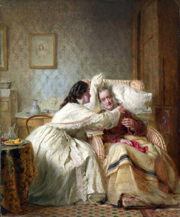 Джордж Хикс Элгар «Миссия женщины: Утешение старости», 1863 год