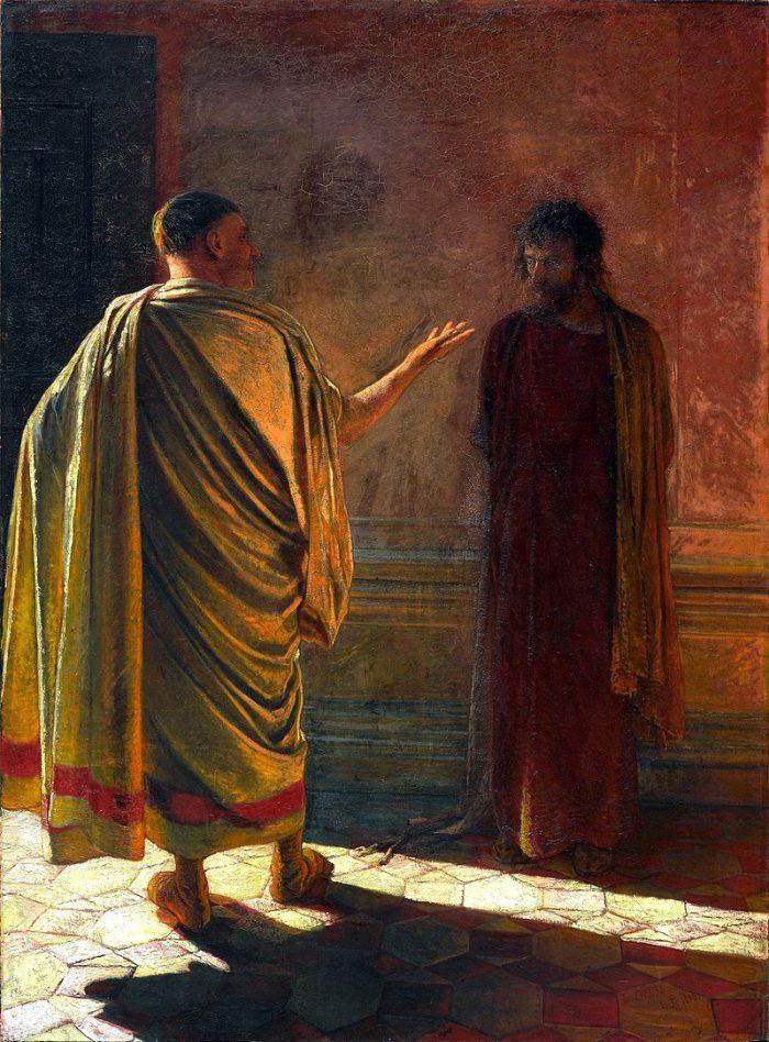 Николай Ге «Что есть истина? Христос и Пилат», 1890 год