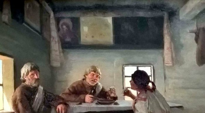 Пимоненко Николай Корнилович «Сваты», фрагмент