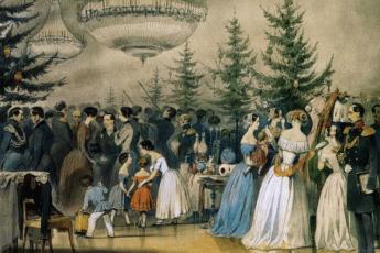 А.Ф. Чернышев «Рождественская ёлка в Аничковом дворце», 1848 год