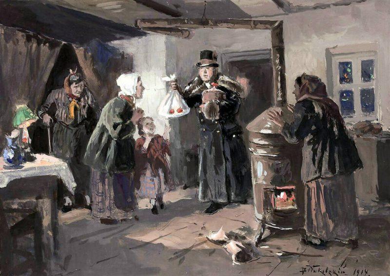 Маковский В. Е. «Благодетель», 1914 год