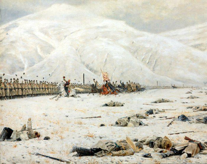 Василий Верещагин «Шипка-Шейново. Скобелев под Шипкой», фрагмент
