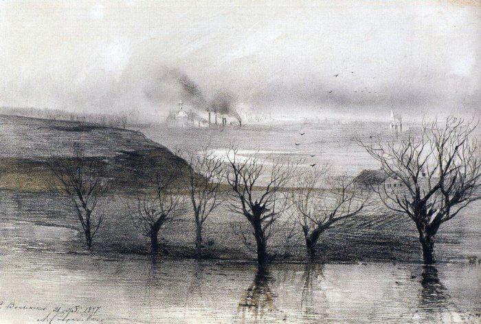 Алексей Саврасов «Пейзаж. Село Волынское», 1887 год