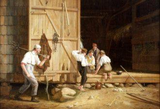 Уильям Сидней Маунт «Игроки- прогульщики» («Непослушные мальчишки»), 1835 год