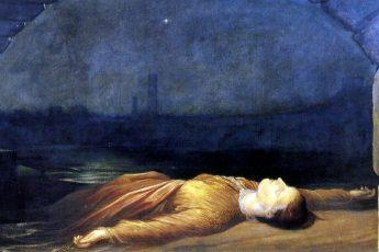 Джордж Фредерик Уоттс «Найдена утонувшей», 1850 год